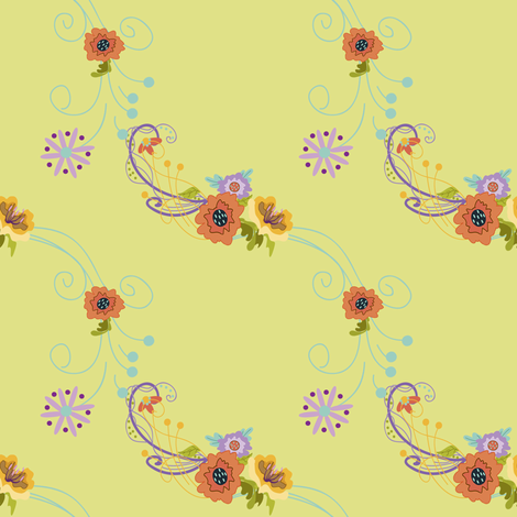 Damask_Lines_on_Light_Green fabric by lana_gordon_rast_ on Spoonflower - custom fabric