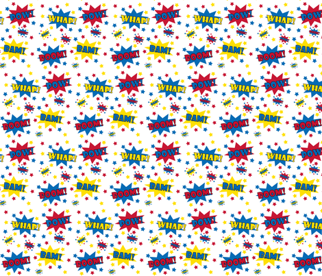 Boy Superhero! POW! fabric by littlebdesigns on Spoonflower - custom fabric