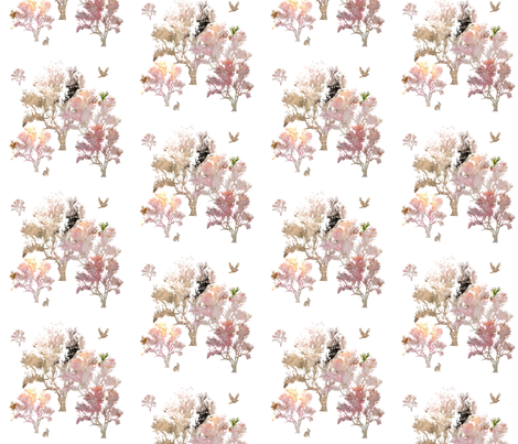 Lovely Forest fabric by karenharveycox on Spoonflower - custom fabric