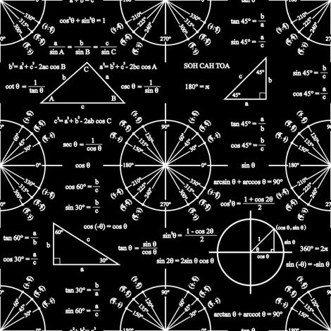 Trig and Triangles (Dark) fabric by robyriker on Spoonflower - custom fabric