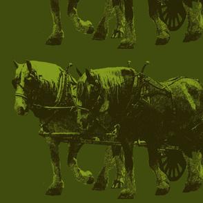 Heavy Horses Toile Olive