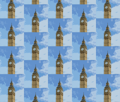 Big Ben  fabric by susaninparis on Spoonflower - custom fabric