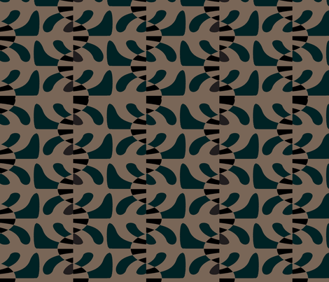 Fish Mobile (Khaki) fabric by david_kent_collections on Spoonflower - custom fabric