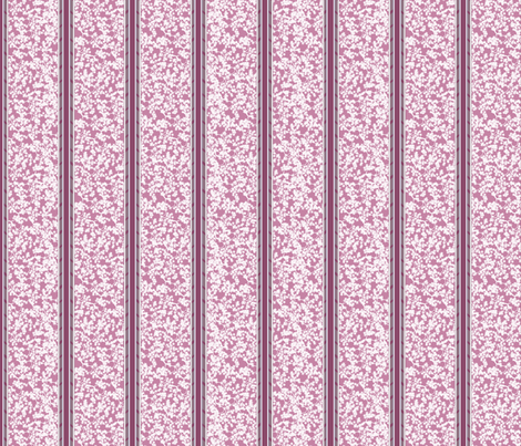 cherry_blossom_stripe_-_pink_and_gray fabric by glimmericks on Spoonflower - custom fabric