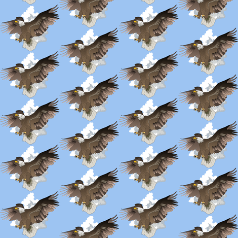Eagles in Flight-deep fabric by glimmericks on Spoonflower - custom fabric