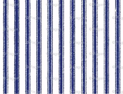 ticking-stripenavywhite