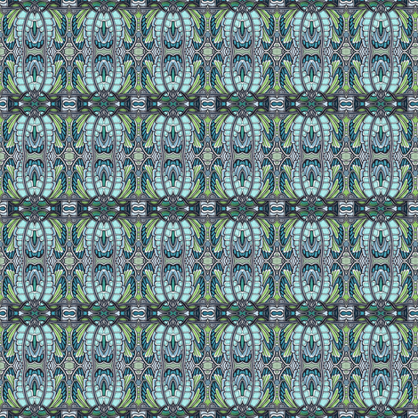 Angel Wings (blue/green) fabric by edsel2084 on Spoonflower - custom fabric