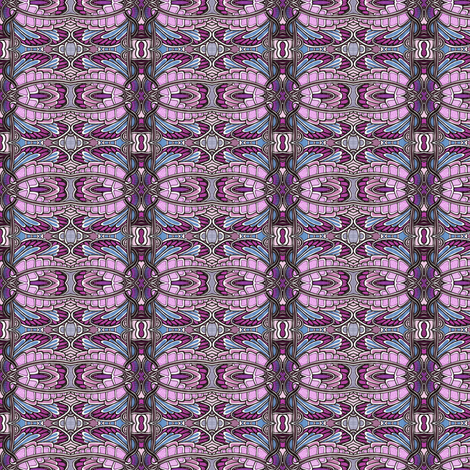 Angel Wings (horizontal, periwinkle/pink) fabric by edsel2084 on Spoonflower - custom fabric