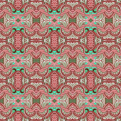 Color Me Pink and Green fabric by edsel2084 on Spoonflower - custom fabric