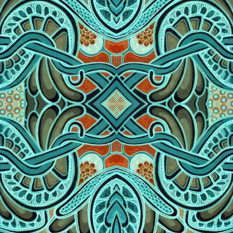 Color Me Aqua fabric by edsel2084 on Spoonflower - custom fabric