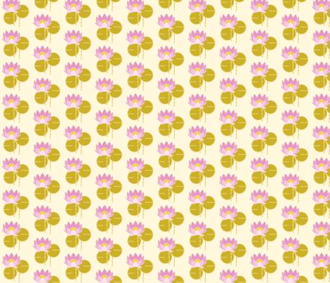 Lotus gold fabric by cindylindgren on Spoonflower - custom fabric