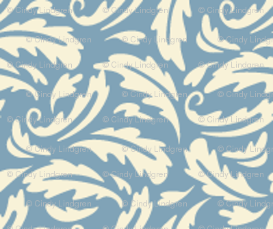 thistle leaf blue coord
