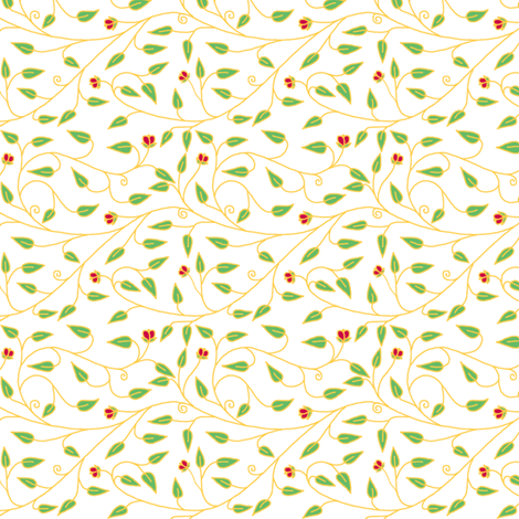 tiny_cloisionne_vines_white fabric by victorialasher on Spoonflower - custom fabric