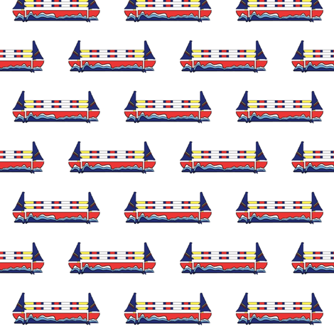 Sailboat Jump fabric by ragan on Spoonflower - custom fabric
