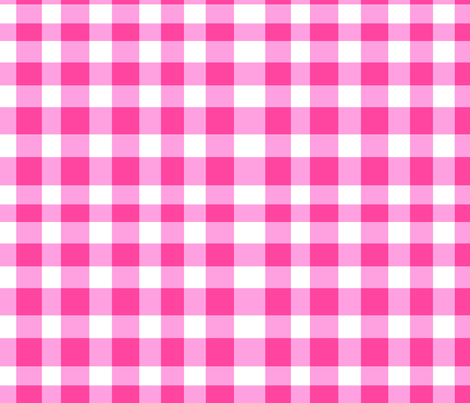 pinkgingham fabric by ragan on Spoonflower - custom fabric