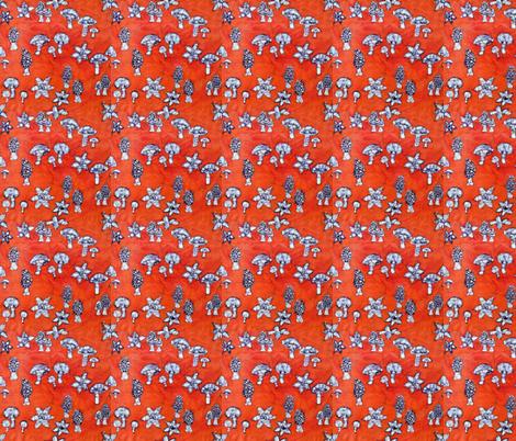 mushrooms, basic repeat fabric by hooeybatiks on Spoonflower - custom fabric