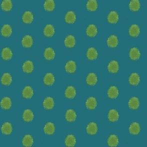 Woodland Moss Dots Turquoise