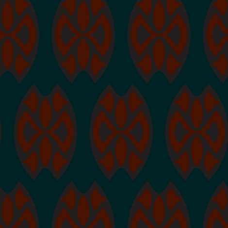Twelfth Hour Damask fabric by david_kent_collections on Spoonflower - custom fabric