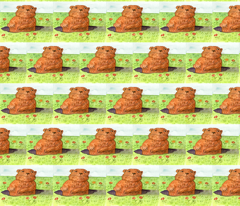 GROUNDHOG DAY OUT fabric by bluevelvet on Spoonflower - custom fabric
