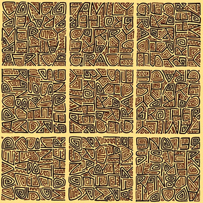 brown maze-style adoption kuba cloth