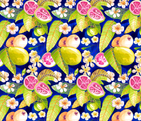 Beautiful Brazilian guavas fabric by clarissa_macedo on Spoonflower - custom fabric