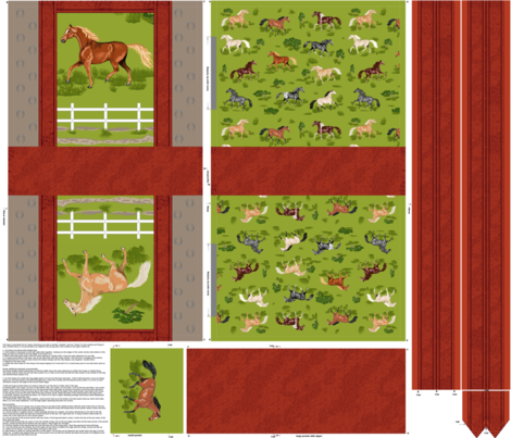 Reversible Horse Tote fabric by khowardquilts on Spoonflower - custom fabric