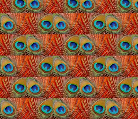 Peacock Eyes fabric by neverlosehope on Spoonflower - custom fabric