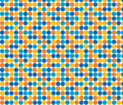 Robot Spots - 3/4 inch fabric by shelleymade on Spoonflower - custom fabric