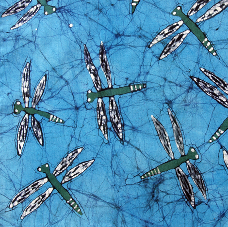 Dragonfly Batik fabric by hooeybatiks on Spoonflower - custom fabric