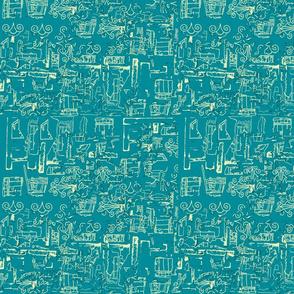 Greek Textures Aqua