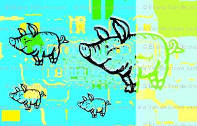 Little blue pigs by evandecraats march 26, 2012