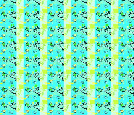 Little blue pigs by evandecraats march 26, 2012 fabric by _vandecraats on Spoonflower - custom fabric