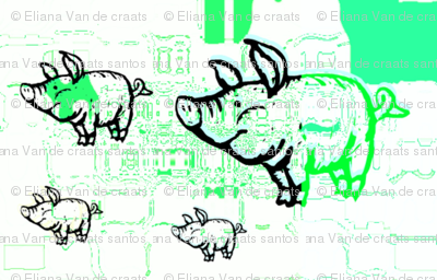 Little green pigs by evandecraats march 26, 2012