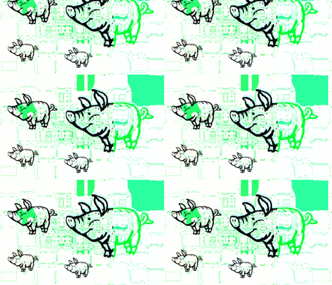 Little green pigs by evandecraats march 26, 2012 fabric by _vandecraats on Spoonflower - custom fabric