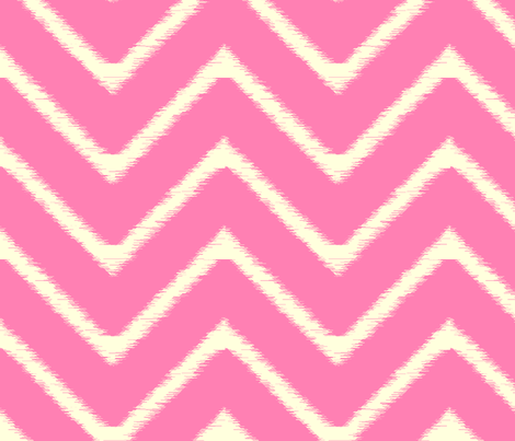 Bright Pink Ikat Chevron fabric by fable_design on Spoonflower - custom fabric