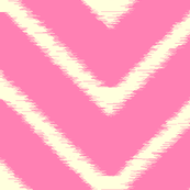 Bright Pink Ikat Chevron