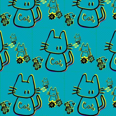 Cats by evandecraats march 26, 2012 fabric by _vandecraats on Spoonflower - custom fabric