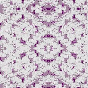 Diamond weave white on pink ground