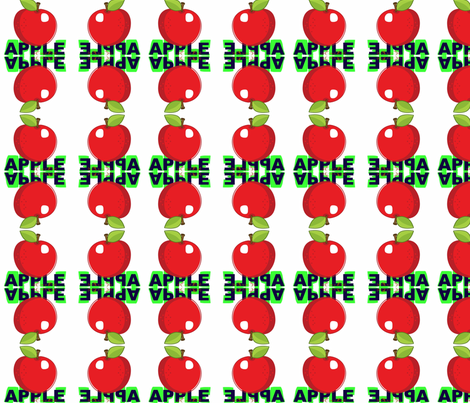Apple by evandecraats march 26, 2012 fabric by _vandecraats on Spoonflower - custom fabric