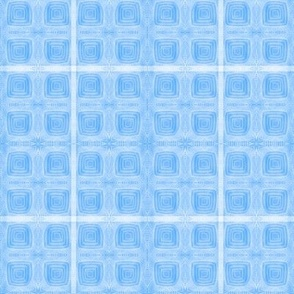 True Blue Hand-drawn Squares