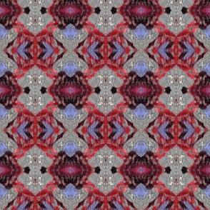 Red Diamond Weave