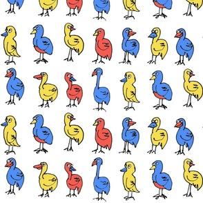 Primary Bird Pattern