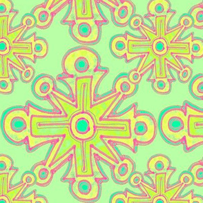 Large Cross No. 69 in Spring Green