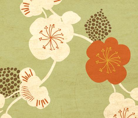 Vintage Sakura fabric by chez_la_petite_f©e on Spoonflower - custom fabric