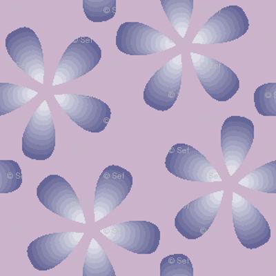 01076713 : S43 floral : mauve petals in the sky