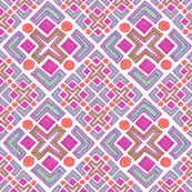 Cross No. 68 Diagonal on White