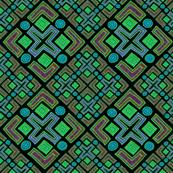 Cross No. 68 Diagonal on Black