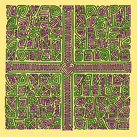 single maze-style adoption kuba cloth fabric by weavingmajor on Spoonflower - custom fabric