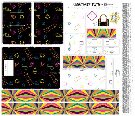 Creativity Tote Kit fabric by modgeek on Spoonflower - custom fabric