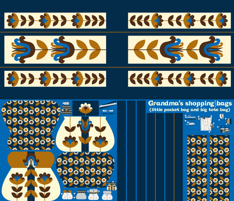 Grandma's shopping bags fabric by mariao on Spoonflower - custom fabric